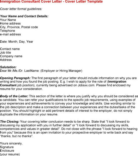 immigration cover letter sle letter of recommendation