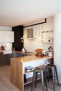 Cuisine Deco Industrielle : la cuisine blanche et bois en 102 photos inspirantes ~ Carolinahurricanesstore.com Idées de Décoration