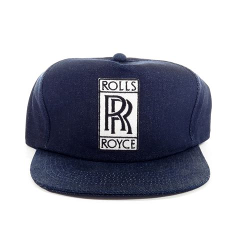 rolls royce raw denim snapback hat sgmc snap   cap