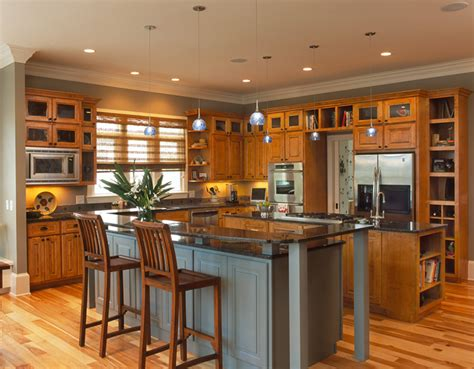kitchen paint colors with hickory cabinets hardwood cabinets enhance universal design american 9510