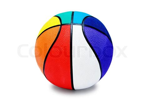 colorful basketball children s multi colored basketball isolated on white