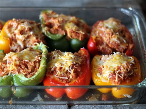 how to make stuffed peppers quinoa and turkey sloppy joe stuffed bell peppers ambitious kitchen