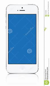 White iPhone 5 Clipart