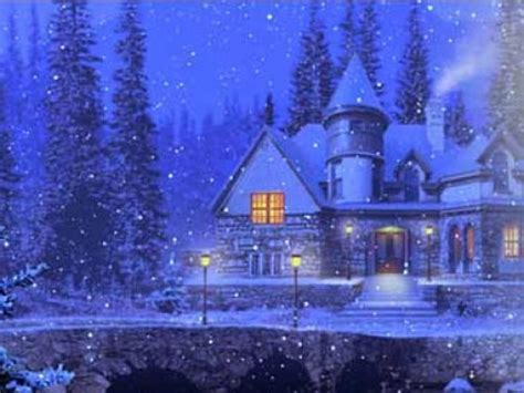 3d Snowy Cottage Animated Wallpaper Free - free animated snowy wallpaper wallpapersafari