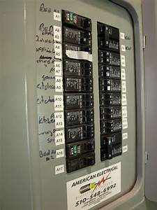 labeling the electrical panel With electrical control panel labels