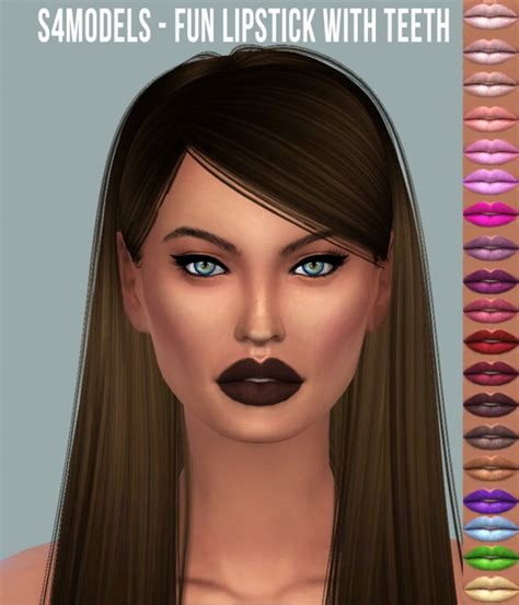 Fun Lipstick With Teeth at S4 Models » Sims 4 Updates