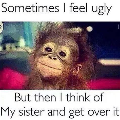 Funny Sister Memes - tag your ugly sister humor pinterest funny pictures memes and funny jokes