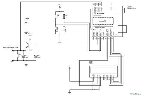 Arduino Based Variable Power Supply Circuit Diagram Code