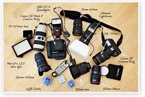 With wedding photography kit