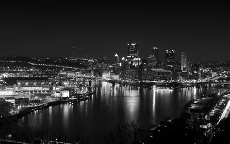 mh pittsburgh dark skyline night cityview nature papersco