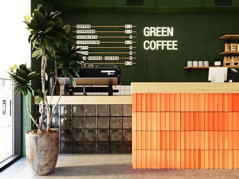 Pure café is using fidme! GREEN COFFEE | coffee shop on Behance