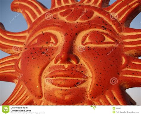 de god van de zon  de hemel stock afbeelding