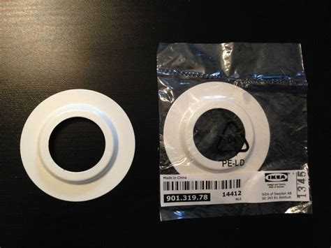 L Shade Adapter Ring Ikea by Ikea L Shade Light Fitting White Metal Reducer Ring