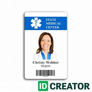 hospital employee card from idcreatorcom With hospital id badge template