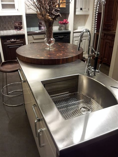 stainless steel kitchen island with butcher block top 75 best images about countertops on wide plank