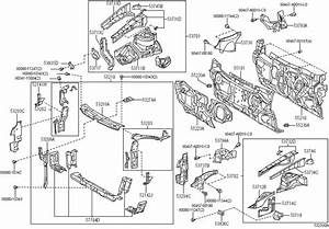 2007 Toyota Camry Hood Latch Support