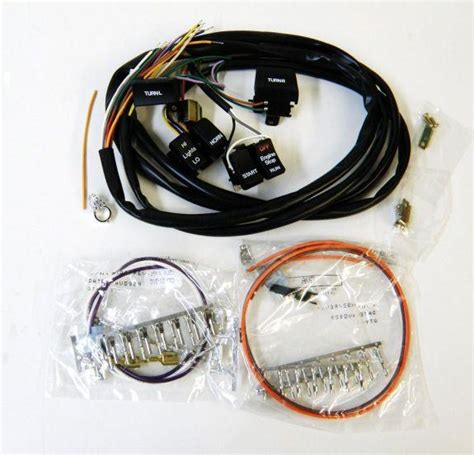 Harley Wiring Harnes Color by Black Switches Color Coded Wiring Harness For Harley Big