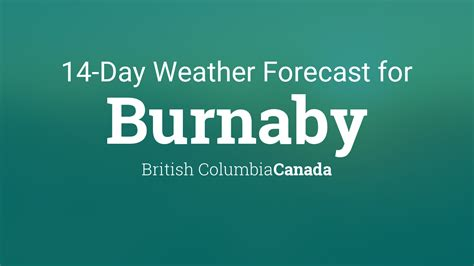 burnaby british columbia canada  day weather forecast