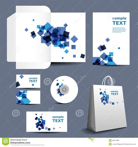 stationery template corporate image design  abstract