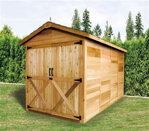 large wooden sheds lawn mower motorcycle storage shed kits cedarshed usa