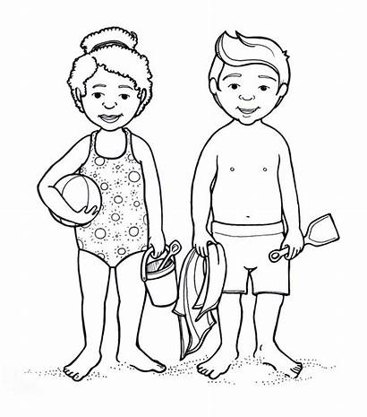 Coloring Parts Human Outline Preschoolers Female Drawing