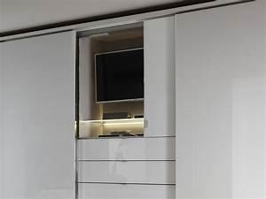 Schlafzimmerschrank Mit Tv : staud media schwebet renschrank spiegel glasfront mit 3er schubk sten kleiderschrank g nstig ~ Yasmunasinghe.com Haus und Dekorationen