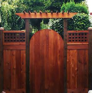 Cedar Arbor with Gate and Fence