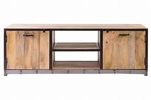 Meuble Design Industriel : meuble tv design industriel 150cm industria miliboo ~ Teatrodelosmanantiales.com Idées de Décoration