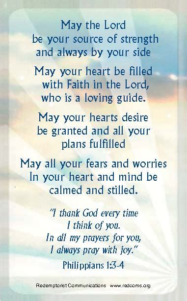 prayer   card redemptorist communications