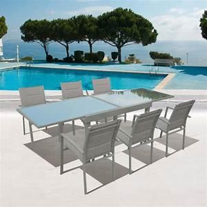 Salon De Jardin Aluminium 10 Personnes : table jardin 8 personnes pas cher ~ Dailycaller-alerts.com Idées de Décoration