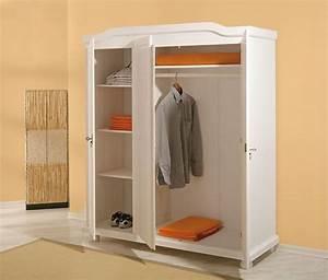Armoire A Vetement : armoire v tements bastian pin massif ton blanc sb meubles discount ~ Teatrodelosmanantiales.com Idées de Décoration