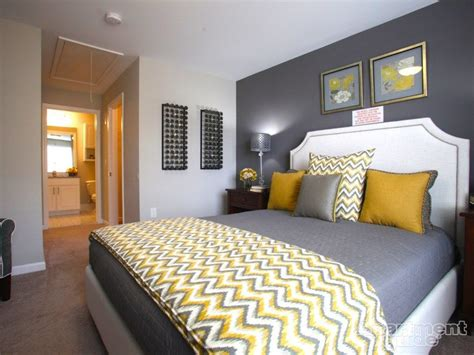 Yellow And Grey Bedroom Decor Ideas by We This Yellow Gray Palette In This Bedroom