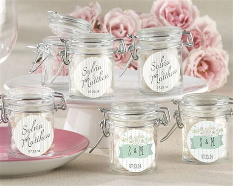 personalized rustic wedding glass favor jars set of 12 my wedding favors