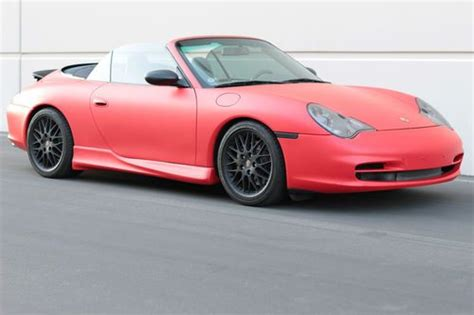 convertible porsche red buy used 2002 matte red porsche 911 carrera 4 convertible