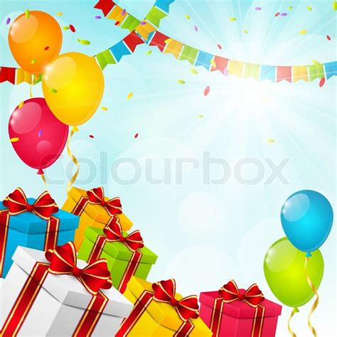 birthday background for your design stock vector colourbox