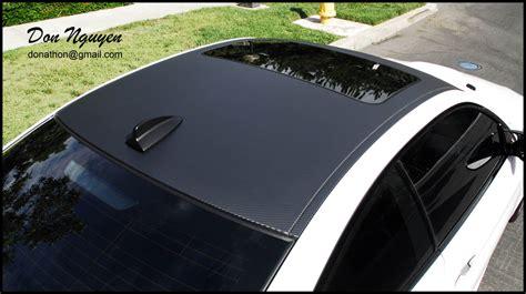 glossmatte black  carbon fiber roof vinyl wrap