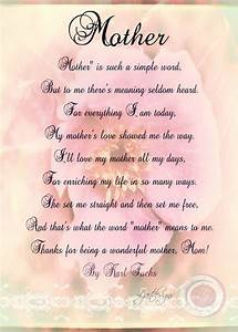 Digital Mother's Day Card with Poem Birthday Print