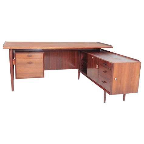 vintage l shaped desk arne vodder for sibast l shaped executive desk and