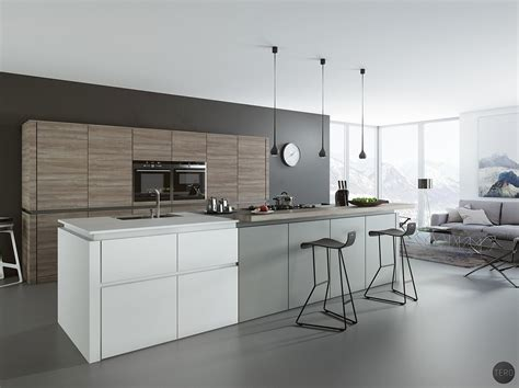 black and grey kitchen ideas 30 gorgeous grey and white kitchens that get their mix right 207 | White Grey Slate Cabinets Grey Floor