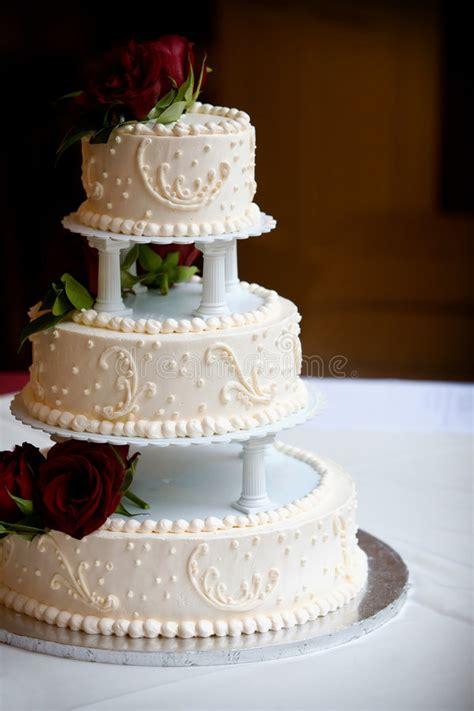 Wedding Cake With Three Tiers Stock Photo Image Of