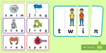 Ccvc Word Puzzles Matching Cards  Phonics, Phase 3, Phase 4, Game