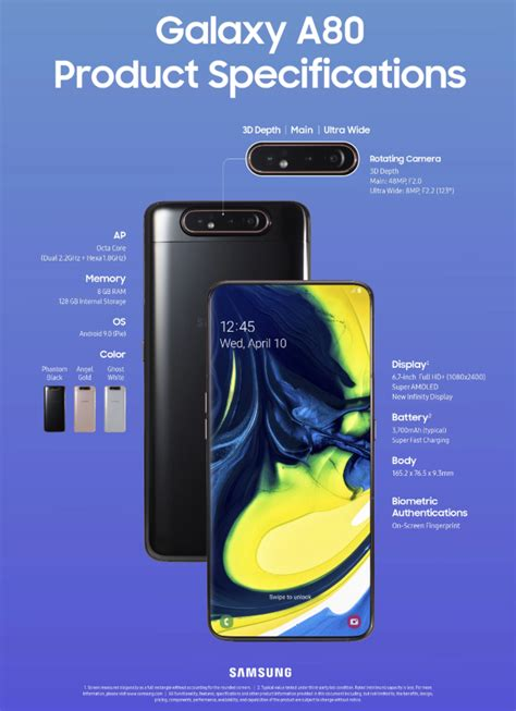 samsung unveil galaxy a80 with rotating channelnews
