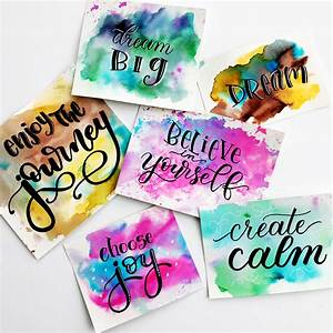 Easy Watercolou... Simple Water Quotes