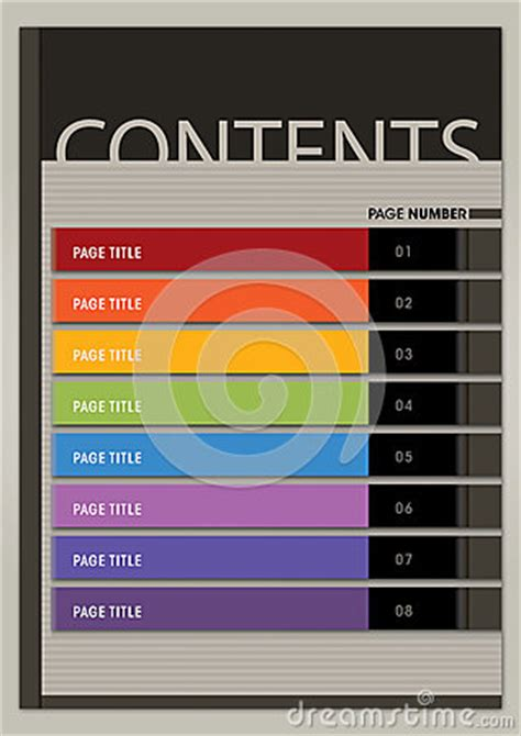 content page layout boxy modern style royalty  stock