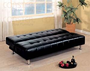 black vinyl sofa bed by coaster 300118 With vinyl sofa bed