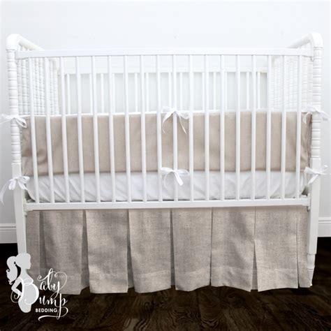neutral crib bedding white linen gender neutral baby crib bedding