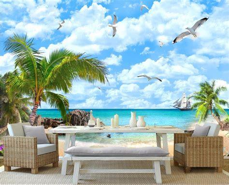 inspirasi gambar wallpaper dinding tema pantai