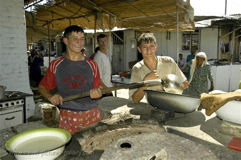 Pictures of Turkmenistan-0048 - men preparing food at ...