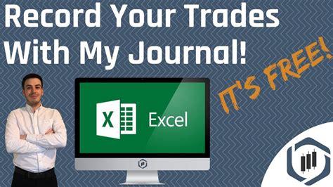 trading journal  excel spreadsheet trading journal