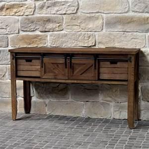 Table De Drapier : meuble console table de drapier industriel bois fe table de ~ Teatrodelosmanantiales.com Idées de Décoration